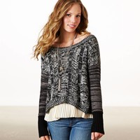 AEO Women's Cable Marled Sweater