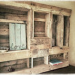 Pallet Jewelry Rack with Decorative Shelves