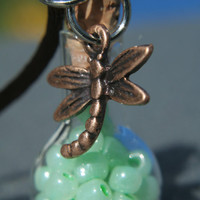Potion Bottle Pendant Dragonfly Seafoam by Valiantstudios