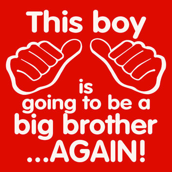 Youth boys t-shirt. Big Brother t-shirt. I'm the big brother. Youth boys t-shirt. T-shirt for boys.