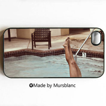 iPhone 4 Case  Swim Swimmer Number 3 Legs Pool by HipsterCases