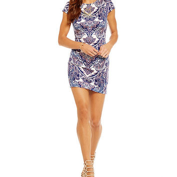 c66bbe20c56 B. Darlin Paisley Print Sheath Dress