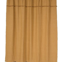 Fancy Styled Burlap Natural Shower Curtain Unlined by VHC Brands