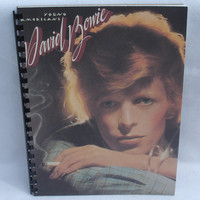 "DAVID BOWIE Notebook -  ""Young Americans"" (1975) - Recycled Record Album Cover"