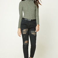 Fleece Mock Neck Top