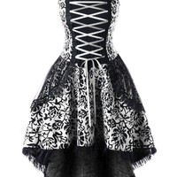 Atomic Plus Size White Vintage Goth Corset Dress