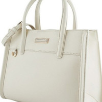 White Casual Tote Shoulder Bag