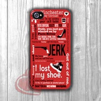 Supernatural Winchester Typography Collage -srwe for iPhone 4/4S/5/5S/5C/6/ 6+,samsung S3/S4/S5,samsung note 3/4
