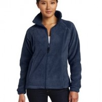 Columbia Women's Benton Springs Full Zip, Columbia Navy, Large