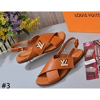 LV 2019 new style brand women's casual and comfortable beach sandals #3