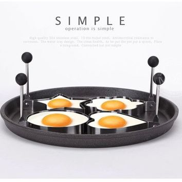 1 piece Stainless Steel egg mold Cook Fried Egg tools Pancake kitchen gadgets cooking tools /molde huevos
