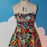 black marvel sweet heart dress - avengers