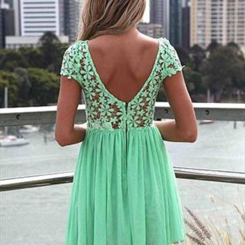 Splended angel lace lime dress from LullaBellz