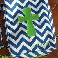 Blue Chevron Bible Cover