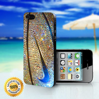 Nike Logo Basketball Glitter Gold - For iPhone 4/4s, iPhone 5, iPhone 5s, iPhone 5c case. Please choose the option