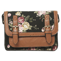 Floral Structured Crossbody Bag | Shop Biker Babe at Wet Seal