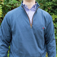 DownpourDry Pullover in Washed Navy by Southern Marsh