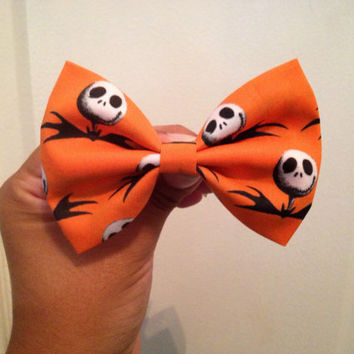 Jack Skellington Hair Bow