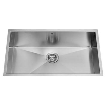 Vigo VG3219C 32-Inch Undermount Stainless Steel 16 Gauge Single Bowl Kitchen Sink