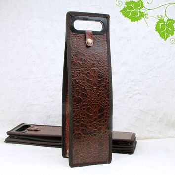 Leather Wine Bottle Carrier