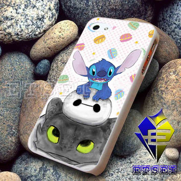 Toothless Stitch And Baymax 2 For iPhone case Samsung Galaxy case Ipad case Ipod case