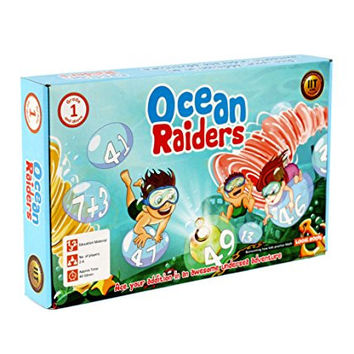 OCEAN RAIDERS addition board game for beginners STEM toy Math manipulative gift for kids 5 years and up