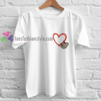 Hanging Heart t shirt gift tees unisex adult cool tee shirts buy cheap