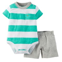 Carter's Striped Bodysuit & Shorts Set - Baby