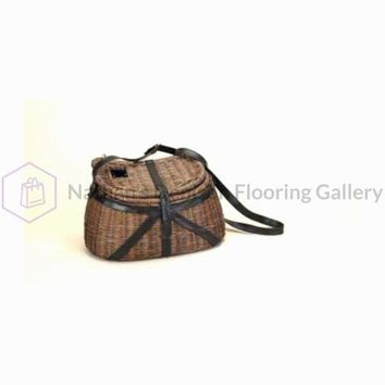 Rivers Edge Willow and Leather Fishing Creel 1505