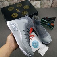Under Armour Curry 4 Gray Sneaker