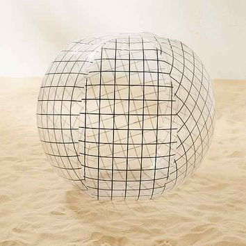 Oversized Grid Beach Ball