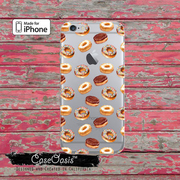 Doughnut Pattern Cake Donut Food Cute Tumblr Clear Case iPhone 6 iPhone 6s iPhone 6s Plus iPhone 5/5s iPhone 5c iPhone SE iPhone 7 Plus Case