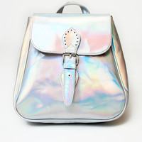Motel Rucksack in Silver Iridescent