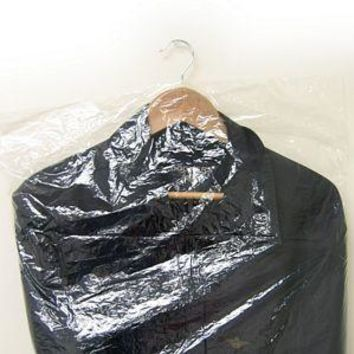 """PG-080 72"""" L Clear Poly Garment Bags - Coat/Gown"""