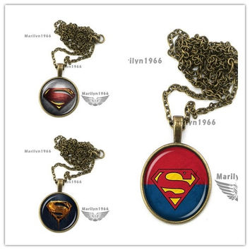 MAZZ-0823 superman necklace superman emblem superman jewelry 3pcs/lot = 1946809476