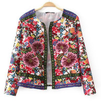 Statement Floral Embroidered Jacket