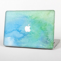 The Subtle Green & Blue Watercolor Skin for the Apple MacBook Air - Pro or Pro with Retina Display (Choose Version)