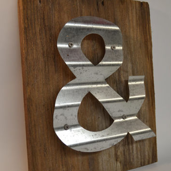 Ampersand Wall Decor sign ampersand repurposed barn wood sign from wall star graphics