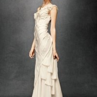 Ribboned Silk Gown in  the SHOP Gowns at BHLDN