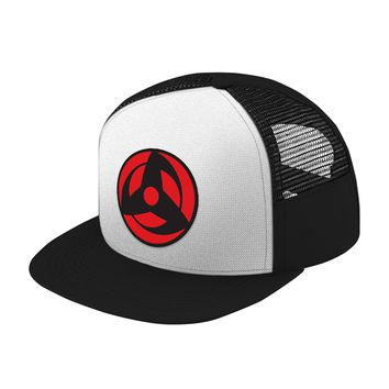 Naruto Akashi Eye Symbol Trucker Hat - PF00303TH