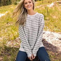 Nautical Stripe Sunday Morning Sweater by Southern Marsh