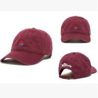 Women Men Rose Embroidery Sport Baseball Cap Hat
