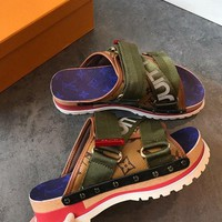 Louis Vuitton LV Monogram Canvas Sandal