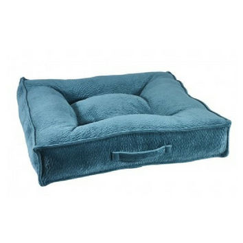 MicroVelvet Square Piazza Dog Bed — Lagoon