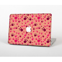 """The Pink & Tan Paw Prints Skin Set for the Apple MacBook Air 13"""""""