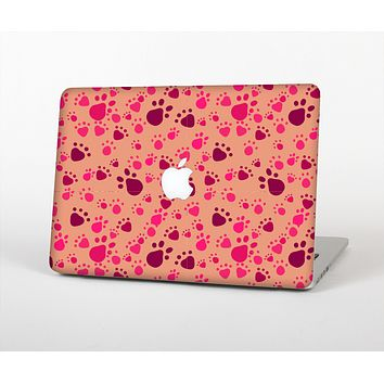 The Pink & Tan Paw Prints Skin for the Apple MacBook Air 13""
