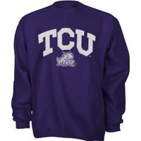 Amazon.com: TCU Horned Frogs Purple Tackle Twill Crewneck Sweatshirt: Sports & Outdoors