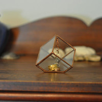 NEW Stained Glass Ring Holder - Glass Display Box - silver or copper - eco friendly - etching