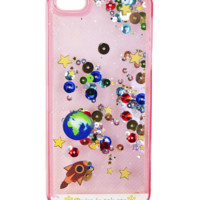 GALAXY GLITTER PINK WATERFALL CASE