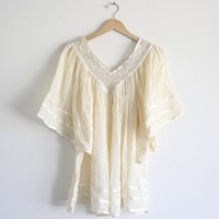 final sale - Gold Rush gauze gypsy tunic